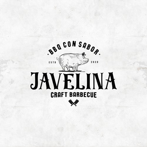 Logo for a craft barbecue restaurant