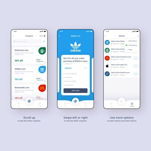 Coupon app Design