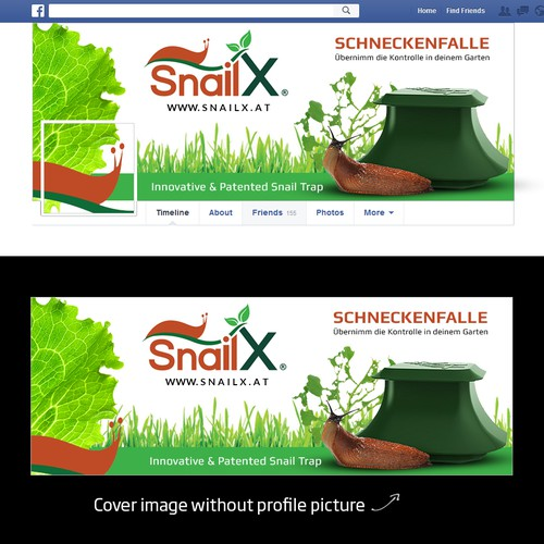 Create a facebook-design for our inovative snail trap