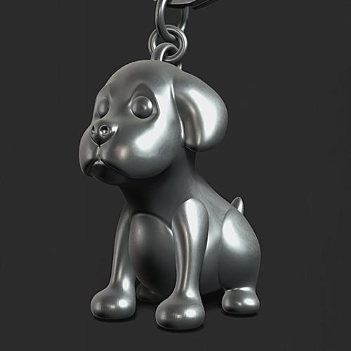 DOG PUPPY 3D keychain