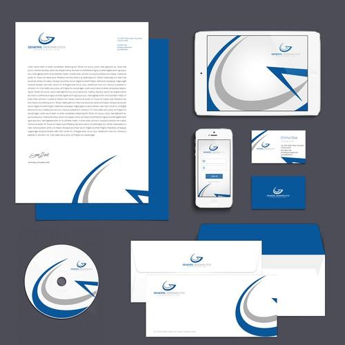 Design stationary for a new aviation brand