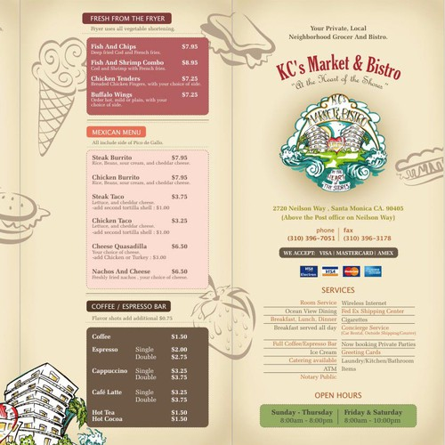 Market & Bistro Menu Design