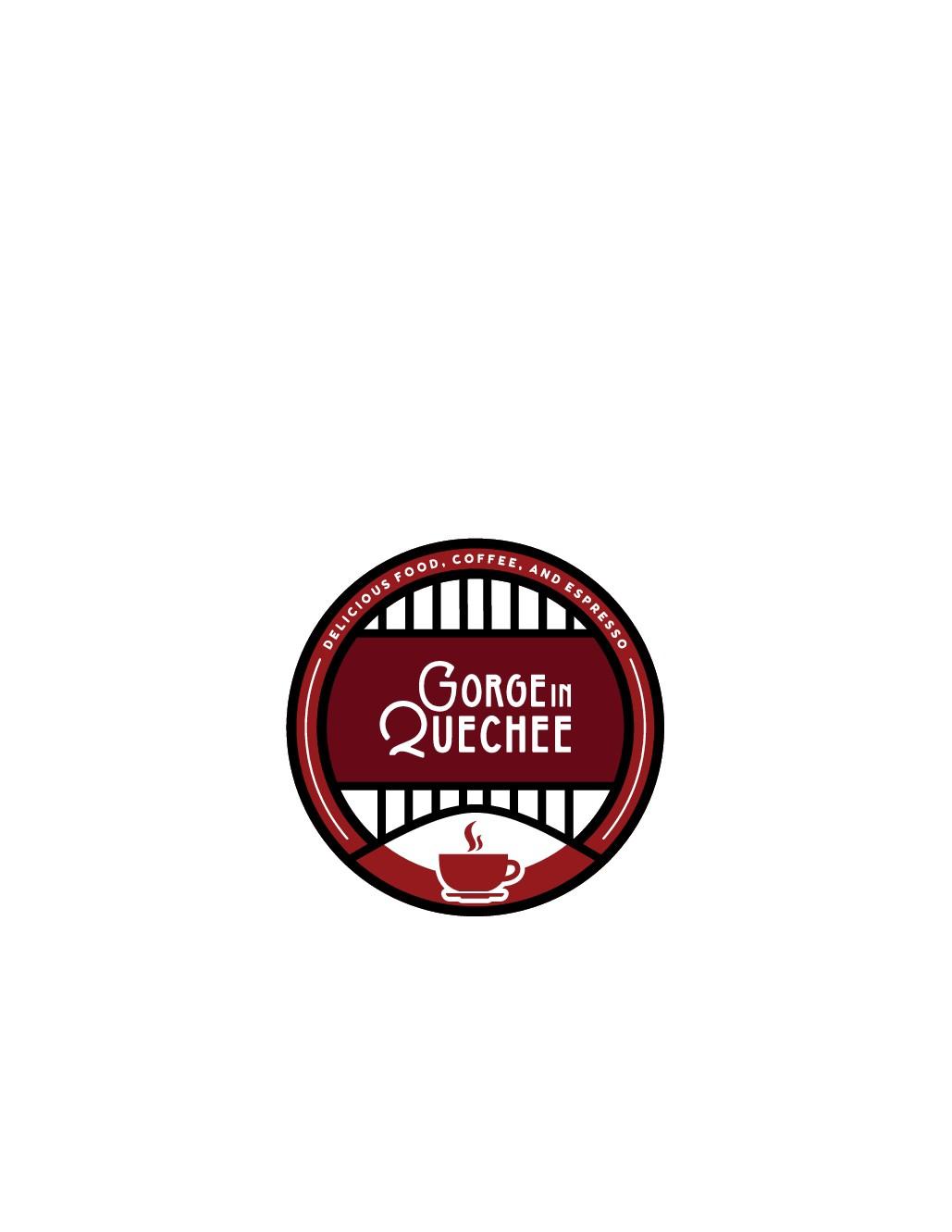 Design a fun and simple logo for new gourmet coffee shop, near a vermont landmark.