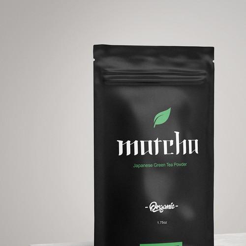 Japanese Matcha Organic Green Tea Powder Product Label