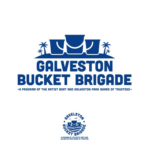 Bold Logo for Gavelston Bucket Brigade
