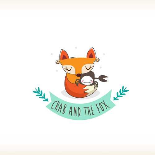 Crab and the Fox logo design