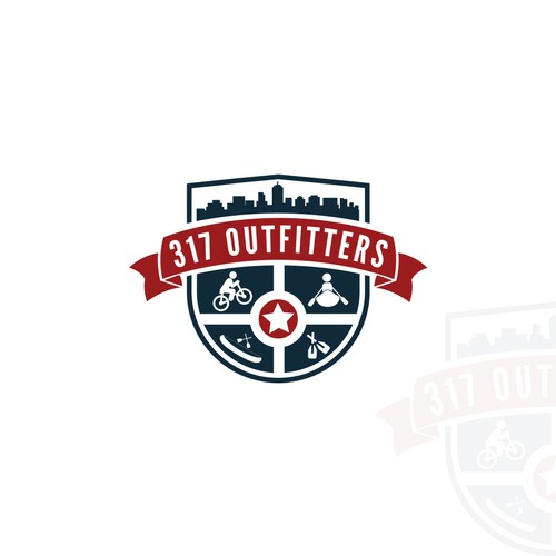 Crest Logo design for 317 OUTFITTERS