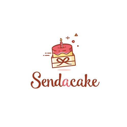 Playful and colorful logo for a cake company