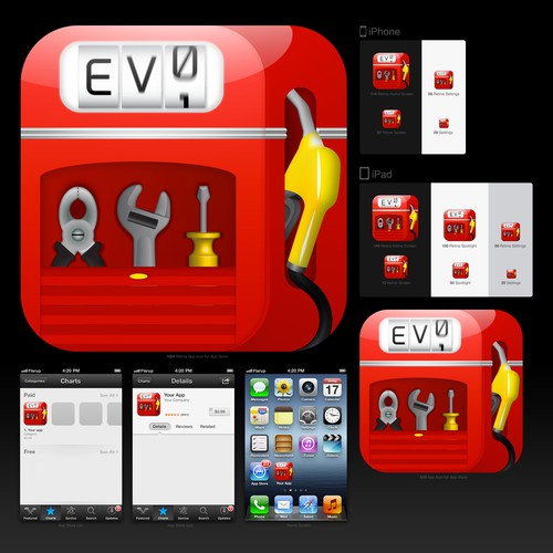 Design the new App Icon for Fuel Log Evo