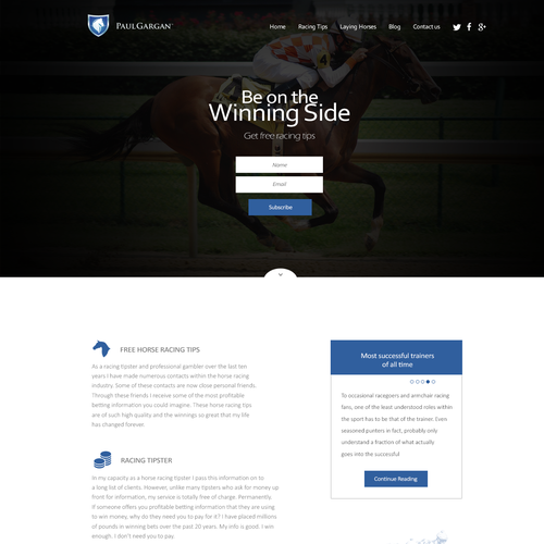 Superconverting Landing Page to entice UK gamblers