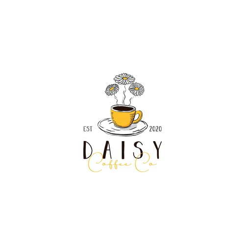 Romantic logo for coffee shop