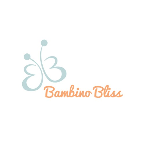 A blissful logo for a baby fashion company