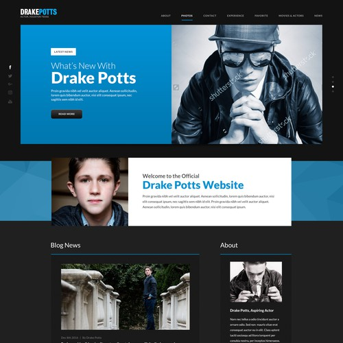 Celebrity Website Design Concept