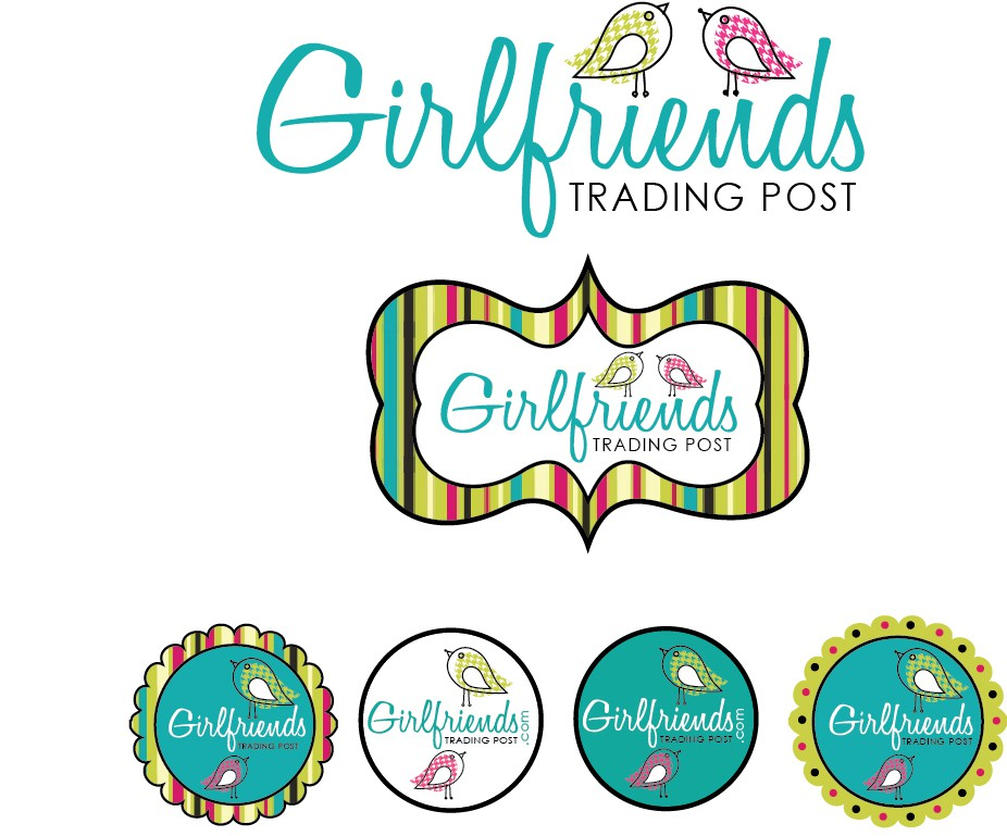 Create a fabulous logo for Girlfriends Trading Post