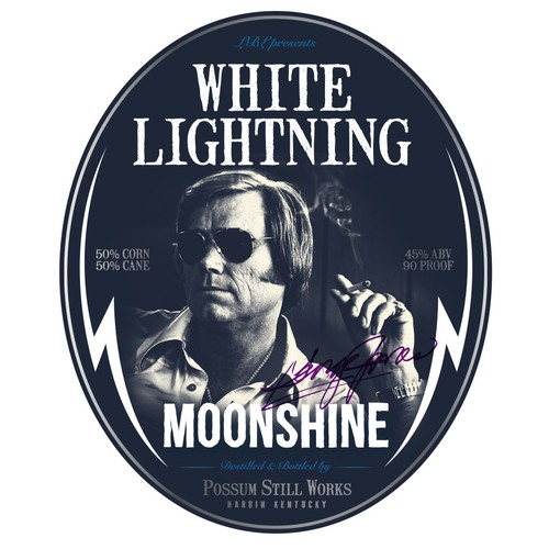 George Jones White Lightning Moonshine whisky jug labels