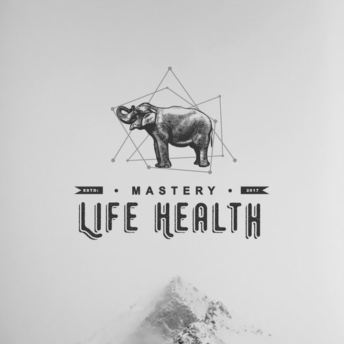 """The logo was created for a health blog - """"Life Habits"""""""
