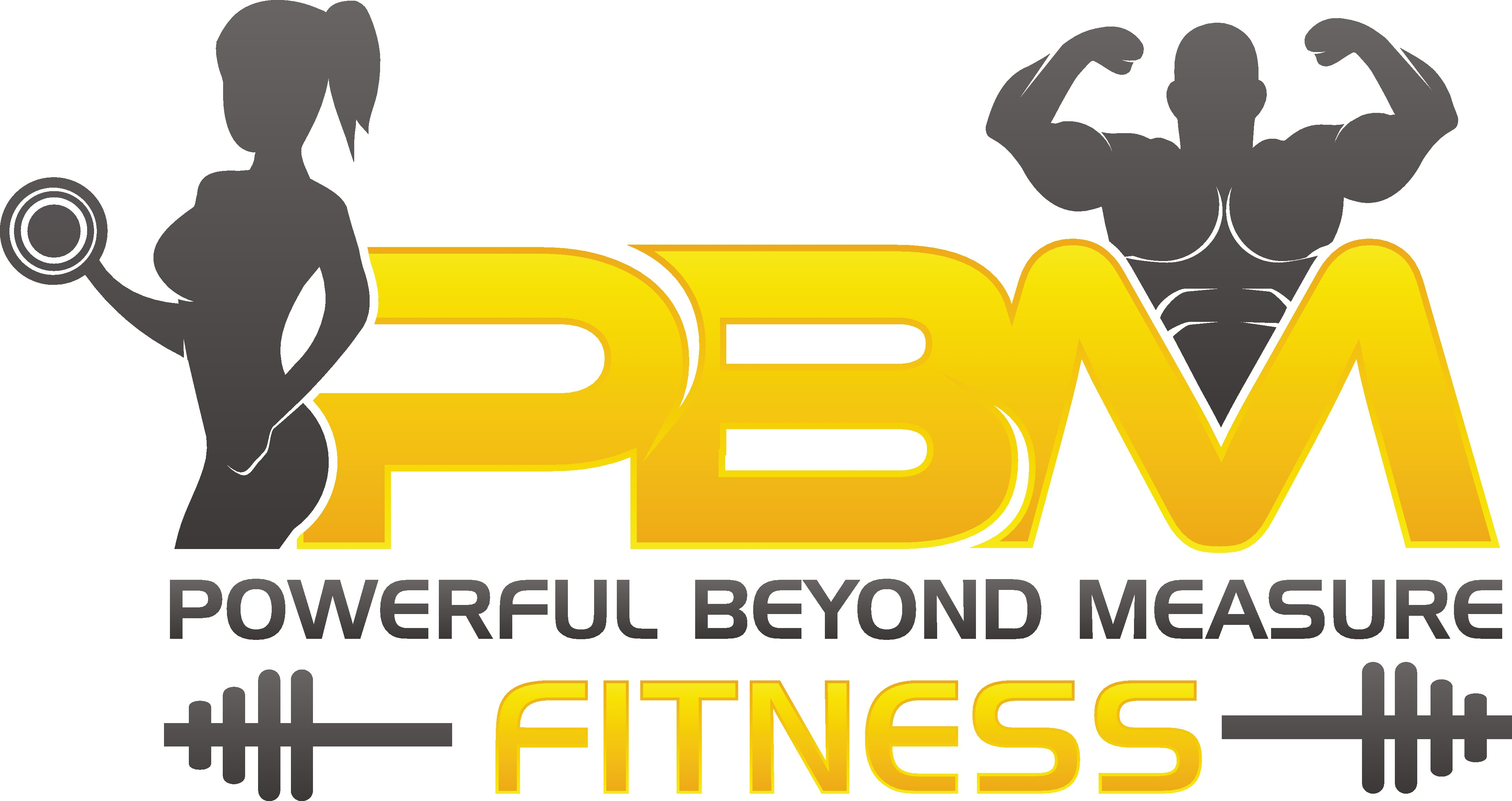 Create a bold and imaginative design for Powerful beyond measure fitness
