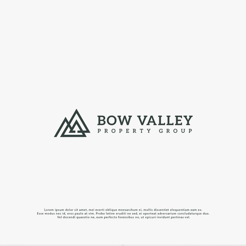 Real Estate logo for mountain life in the Rockies