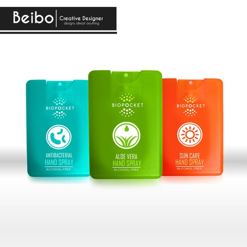 Hand Spray personal care packaging design entry