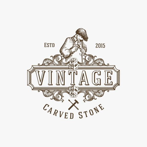 Logo for vintage replica hand carved stone products