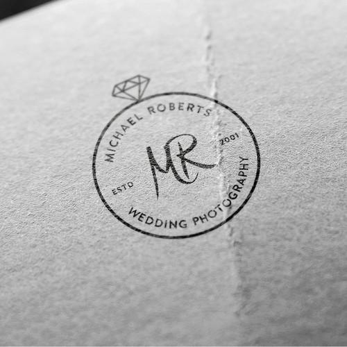 Wedding photographer logo concept