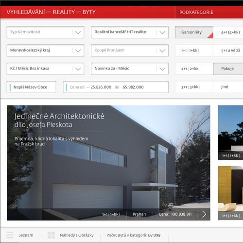 Real Estate web - iPAD redesign