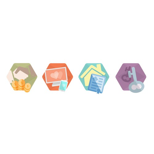 Illustrate vector badges for a new cloud-based service