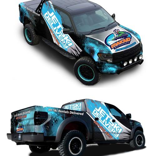 Warp vehicle for Jetski delivery