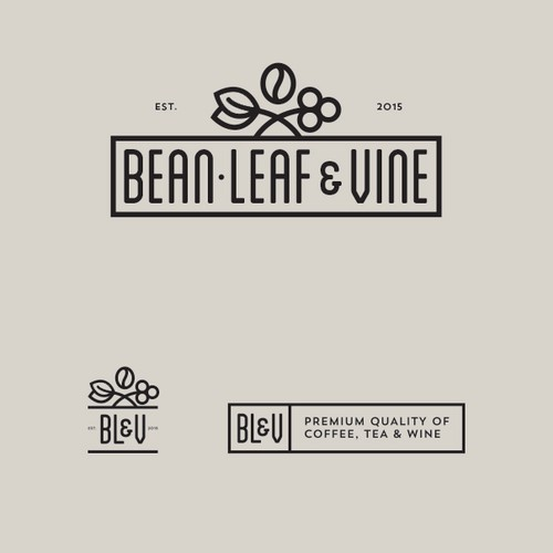 Logo for premium coffee tea and wine