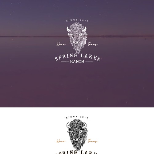 Western style logo for corporate ranch.