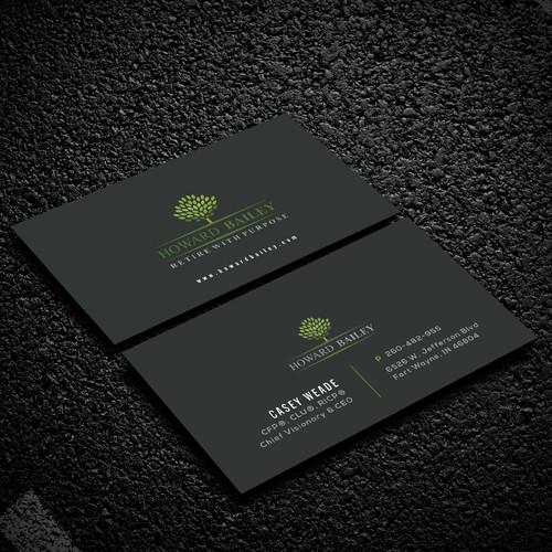 modern, sleek and minimal looking Business card.