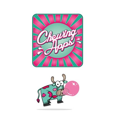 New Mobile App Publisher Site Logo Design - Chewingapps.com
