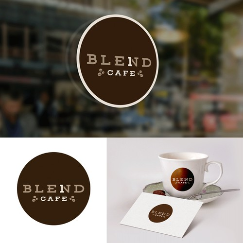 Clean logo design for Blend One cafe