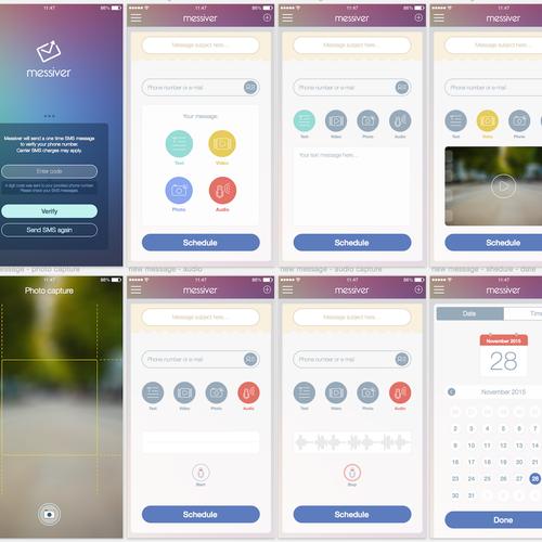 Messiver app design