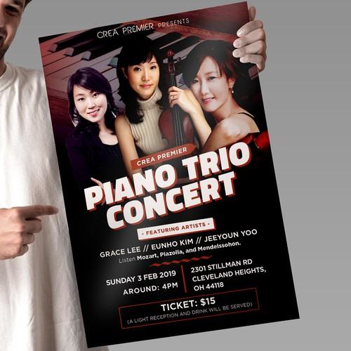 Piano Trio Concert Poster Design