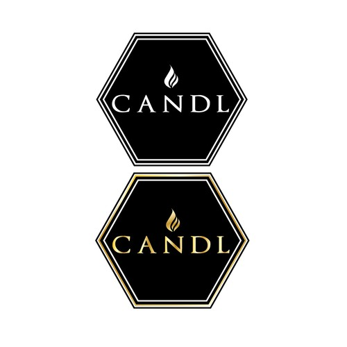 Logo concept for a luxurious candle company