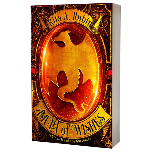 Book cover design - Amulet of Wishes by Rita A. Rubin