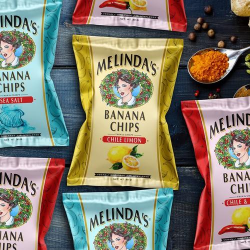 Packing Hot Sauce Banana Chips