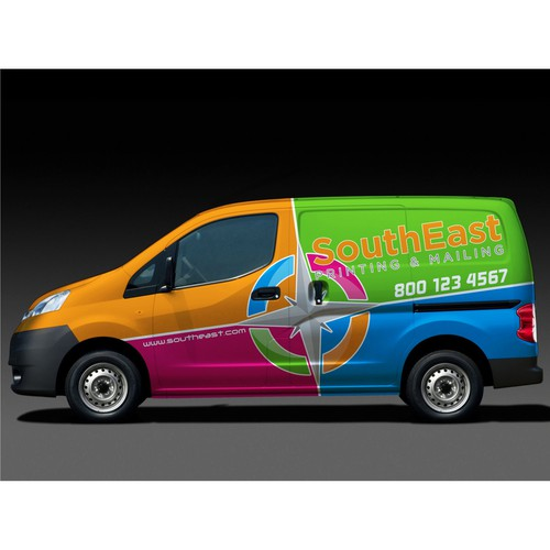 SouthEast Printing & Mailing Van Wrap for ShouthEast Printing & Mailing.