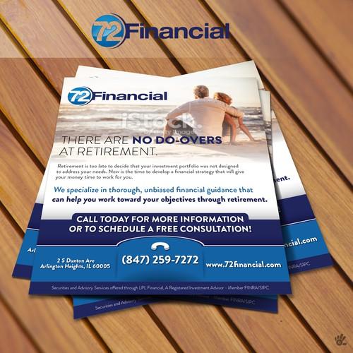 72 Financial Print Ad Design