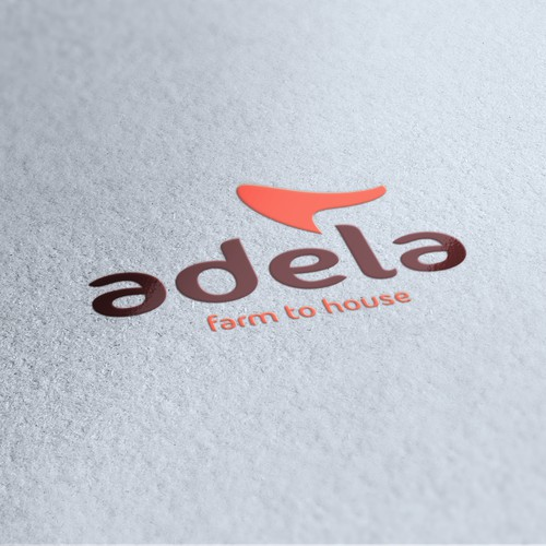 Design a delicious, happy and energizing logo for a food delivery service, Adela Foods