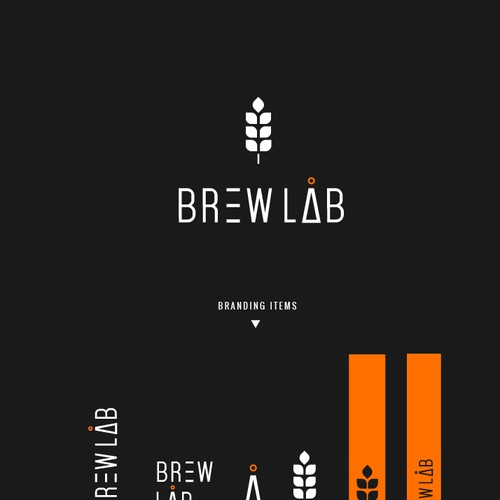 Create a modern logo for a high tech nanobrewery