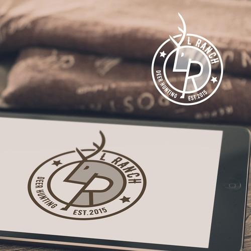 Logo concept for deer hunting L Ranch