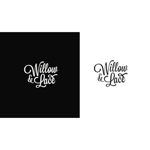 Elegant logo for willow & lace