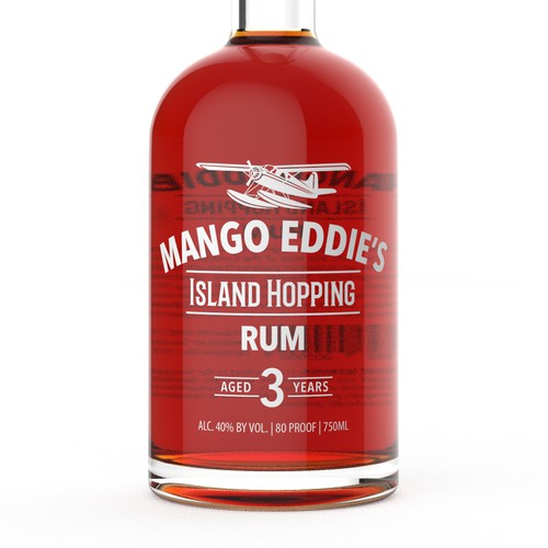 Mango Eddie's Rum Bottle Design