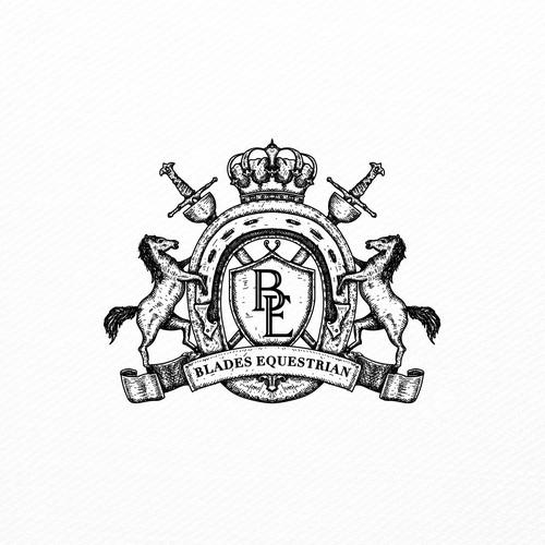 Design a quality logo for new brand 'Blades Equestrian'