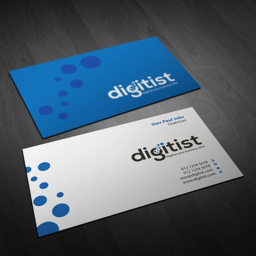 Design awesome business cards for software/technology company Digitist