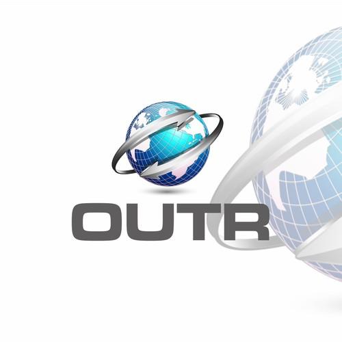 3D globe logo