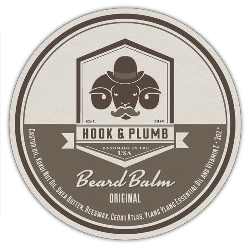 Create Beard Oil and Moustache Wax Product Labels