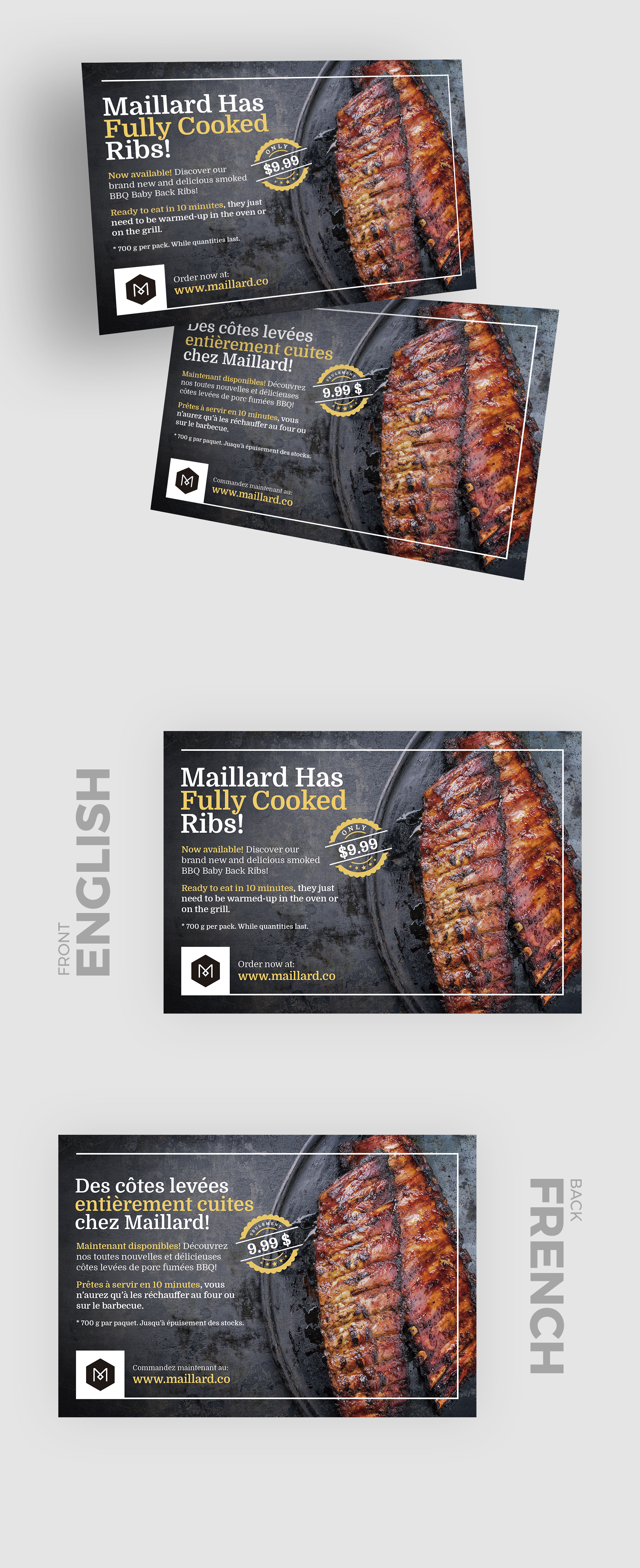 Design a printed insert for a mouth watering new product